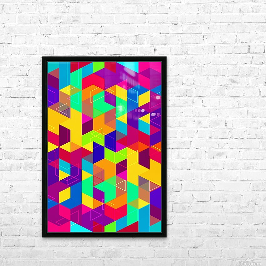 Pattern LXXX HD Sublimation Metal print with Decorating Float Frame (BOX)