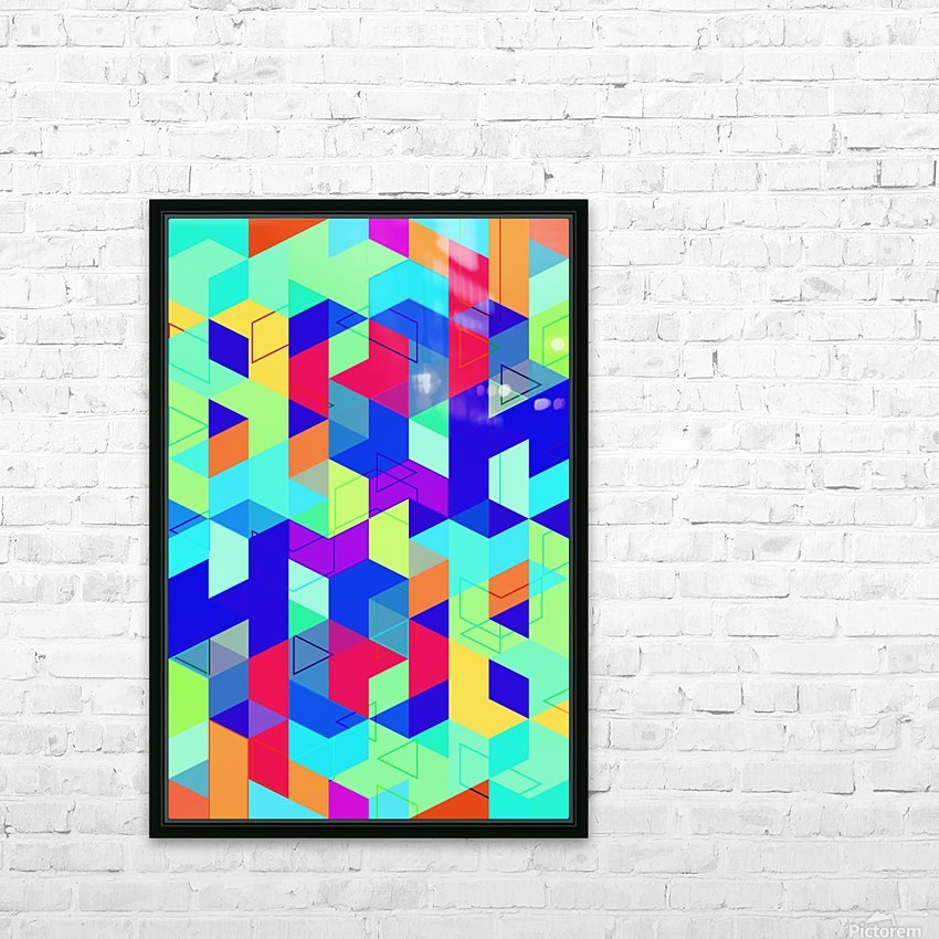 Pattern LXXIX HD Sublimation Metal print with Decorating Float Frame (BOX)