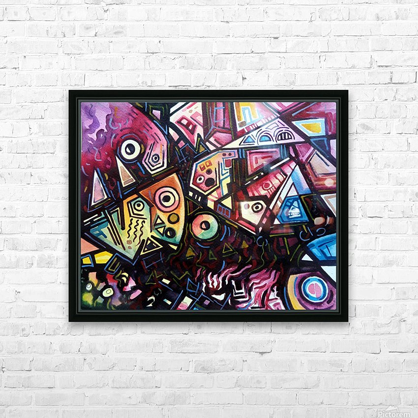 Passion Of Pythagorus 2 HD Sublimation Metal print with Decorating Float Frame (BOX)