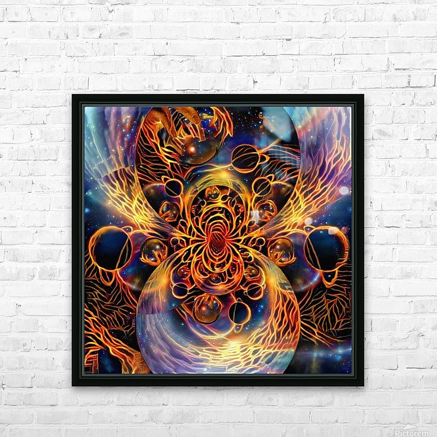 Colorful space HD Sublimation Metal print with Decorating Float Frame (BOX)