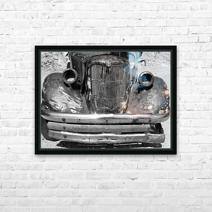 Rusty Old Truck B&W HD Sublimation Metal print with Decorating Float Frame (BOX)