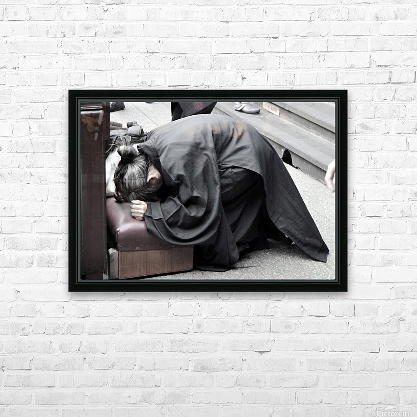 Pray HD Sublimation Metal print with Decorating Float Frame (BOX)