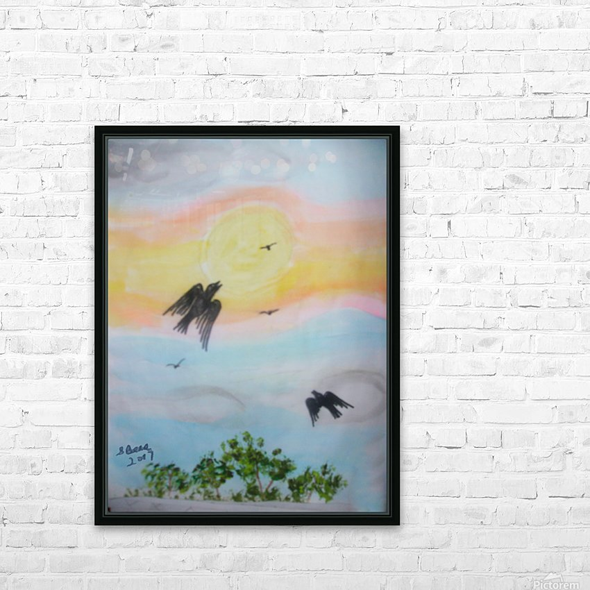 Flying High HD Sublimation Metal print with Decorating Float Frame (BOX)