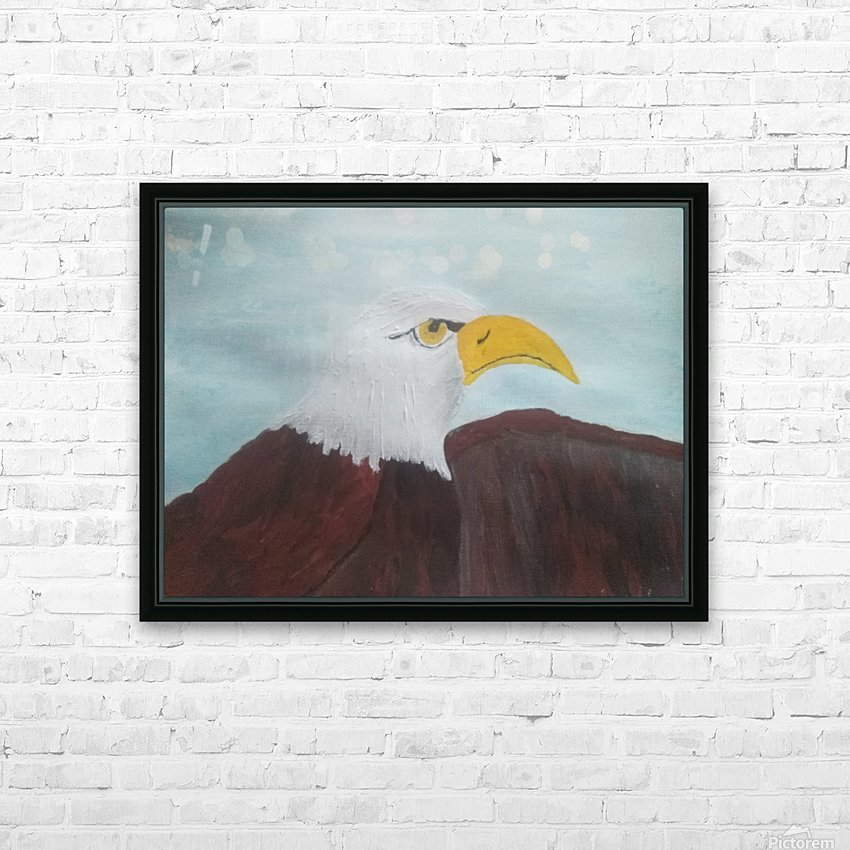 Eagle HD Sublimation Metal print with Decorating Float Frame (BOX)