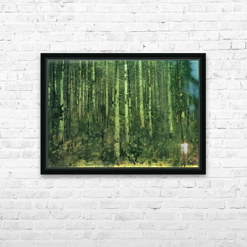 In the forest by Albin Egger-Lienz HD Sublimation Metal print with Decorating Float Frame (BOX)