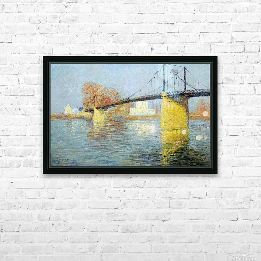 The Banks of the Seine, Triel HD Sublimation Metal print with Decorating Float Frame (BOX)