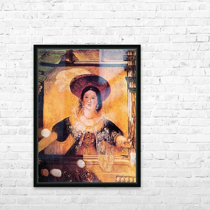 Jessica by Joseph Mallord Turner HD Sublimation Metal print with Decorating Float Frame (BOX)