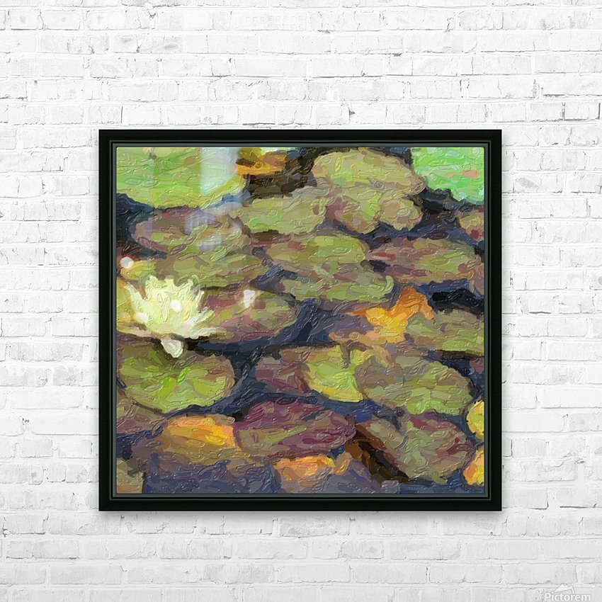 Lillies HD Sublimation Metal print with Decorating Float Frame (BOX)