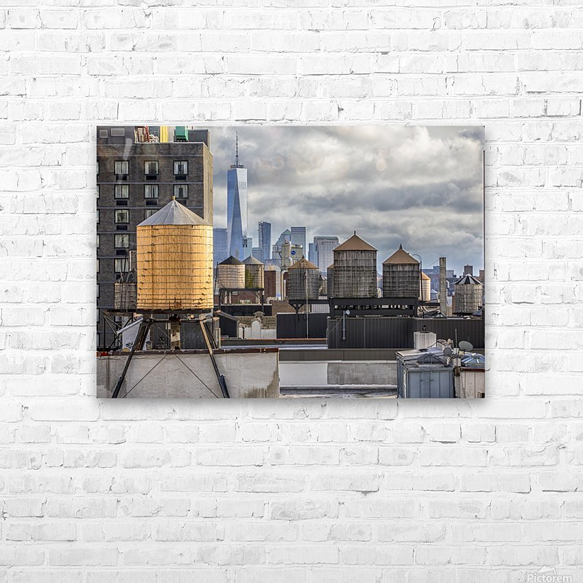Water Towers  HD Sublimation Metal print with Decorating Float Frame (BOX)
