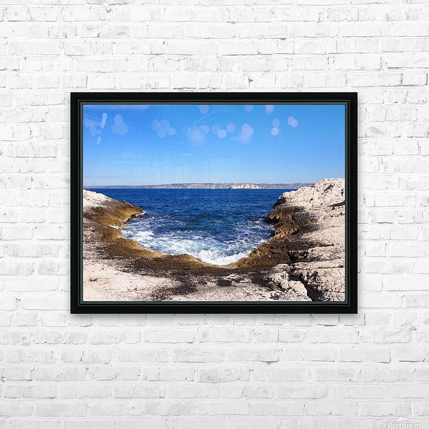 Turning Tide HD Sublimation Metal print with Decorating Float Frame (BOX)