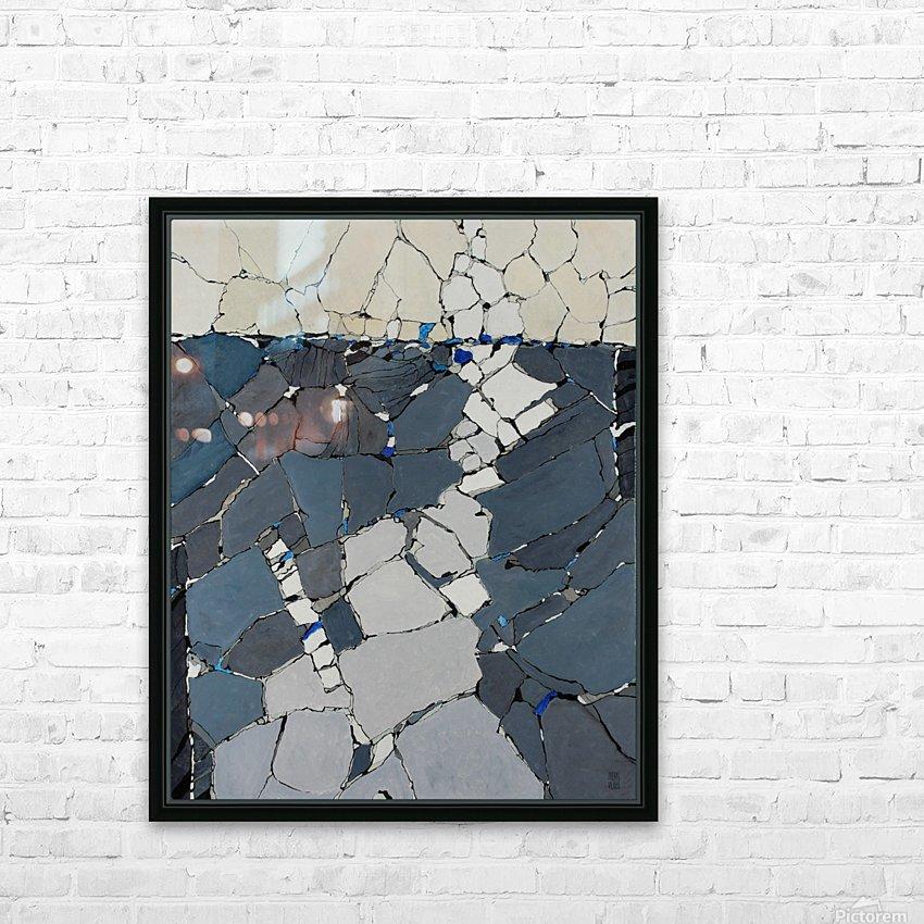Open fields - Contemporary Art HD sublimation métal imprimé avec décoration flotteur cadre (boîte)