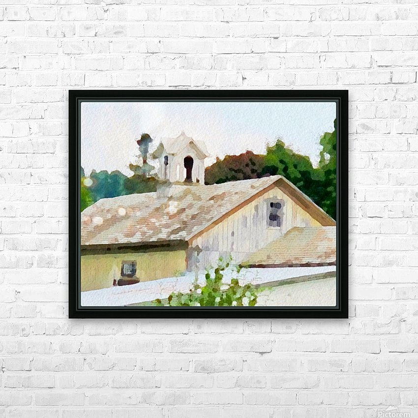 Cummington Barn Roofs HD Sublimation Metal print with Decorating Float Frame (BOX)