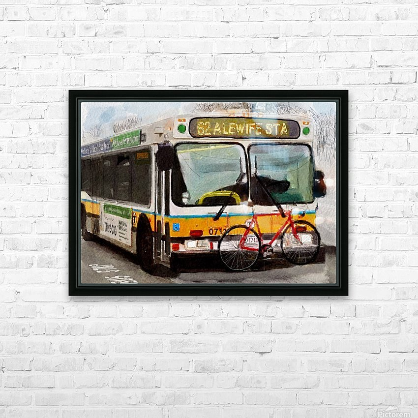 MBTA 62 Bus HD Sublimation Metal print with Decorating Float Frame (BOX)