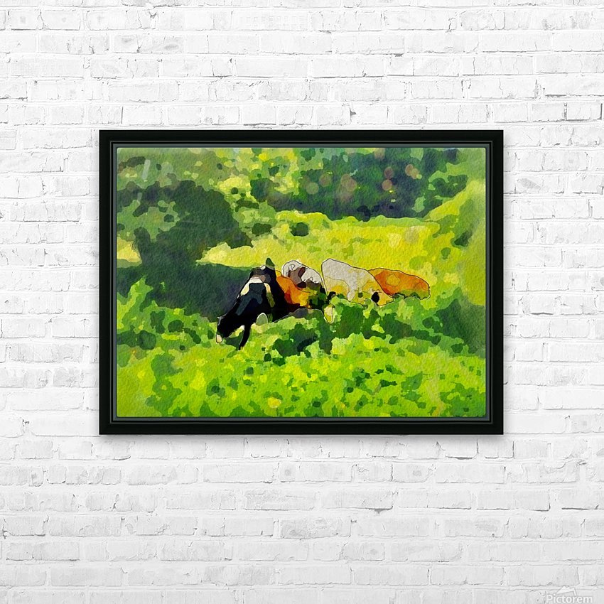 Cummington Cows HD Sublimation Metal print with Decorating Float Frame (BOX)