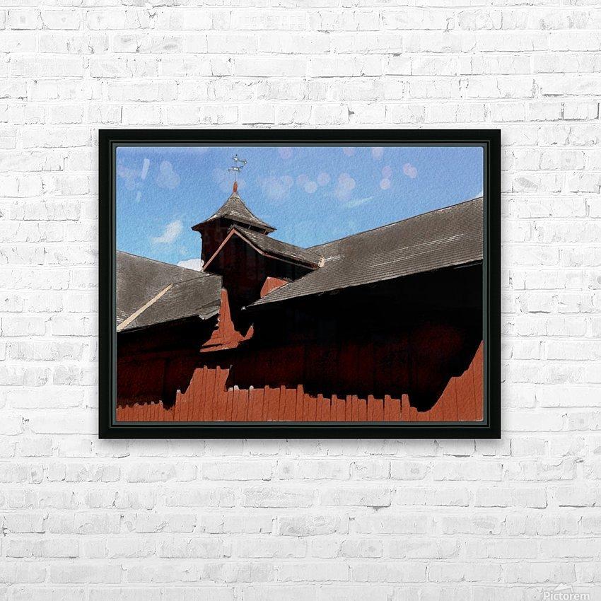 Cummington Bryant Barn HD Sublimation Metal print with Decorating Float Frame (BOX)