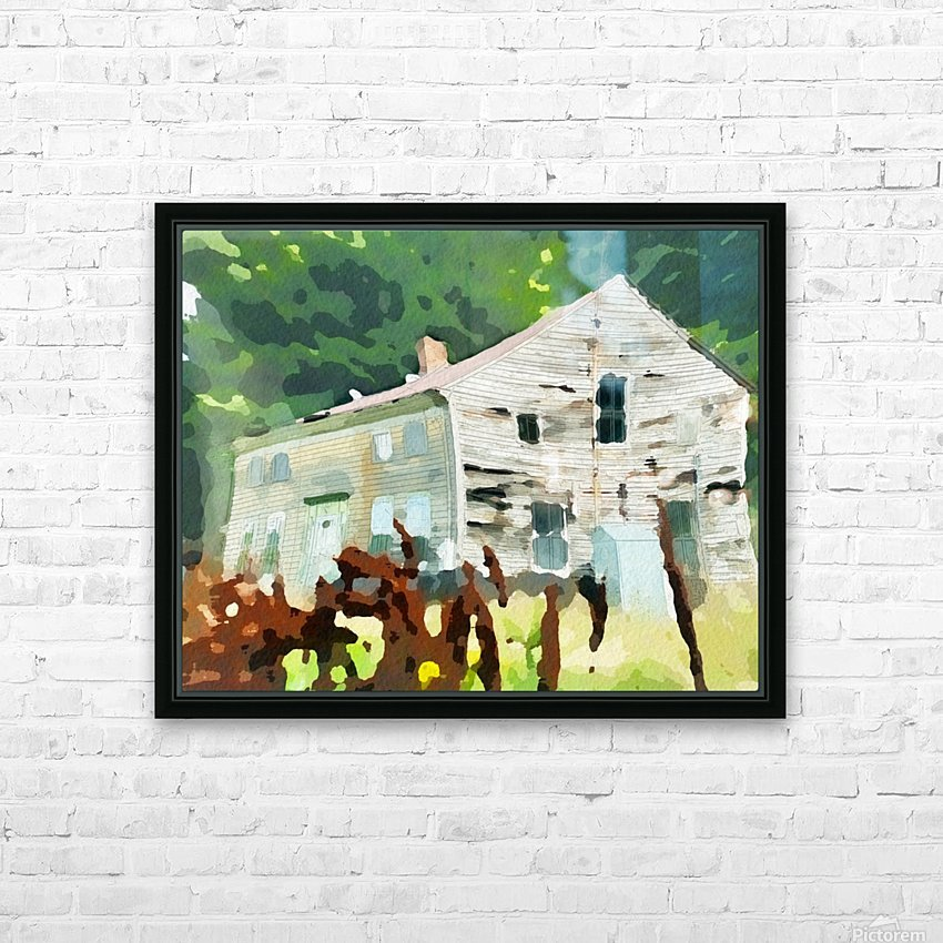 Cummington Old House HD Sublimation Metal print with Decorating Float Frame (BOX)