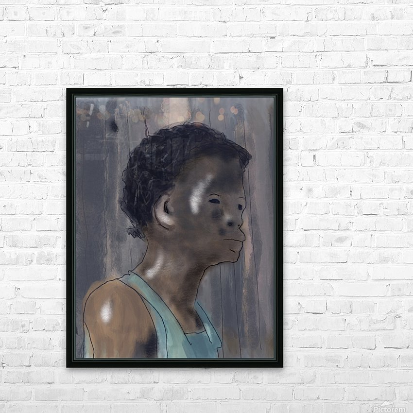 Whitney Plantation Slave Girl 5 HD Sublimation Metal print with Decorating Float Frame (BOX)