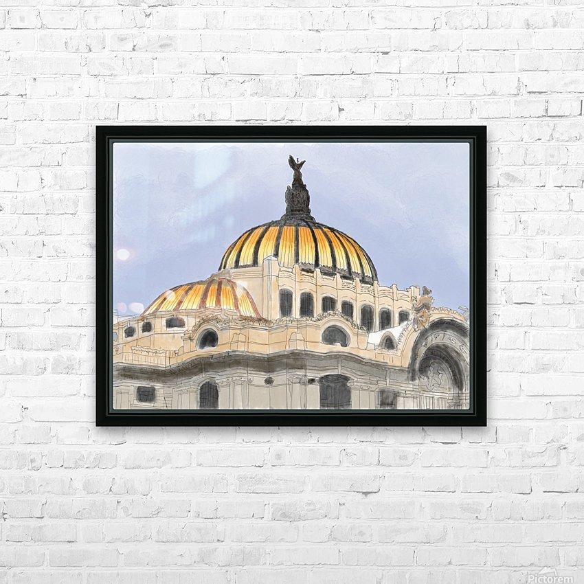 Mexico City Palacio Bellas Artes HD Sublimation Metal print with Decorating Float Frame (BOX)