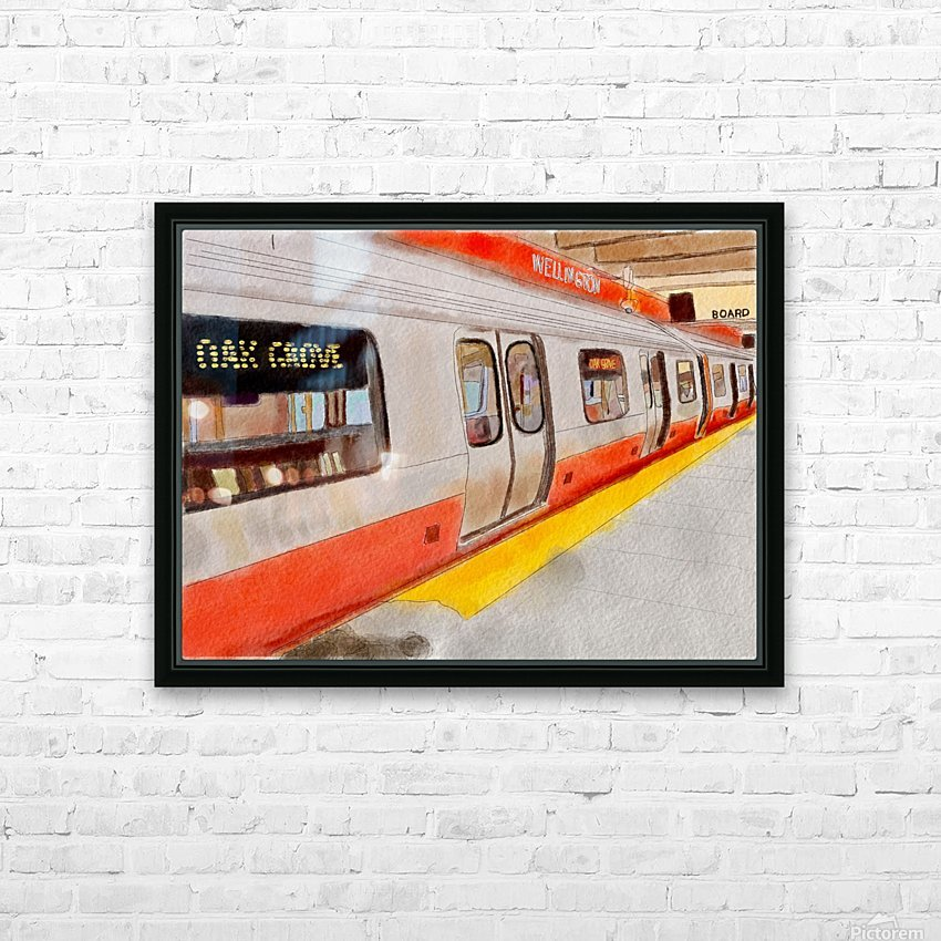 MBTA Orange Line Subway HD Sublimation Metal print with Decorating Float Frame (BOX)
