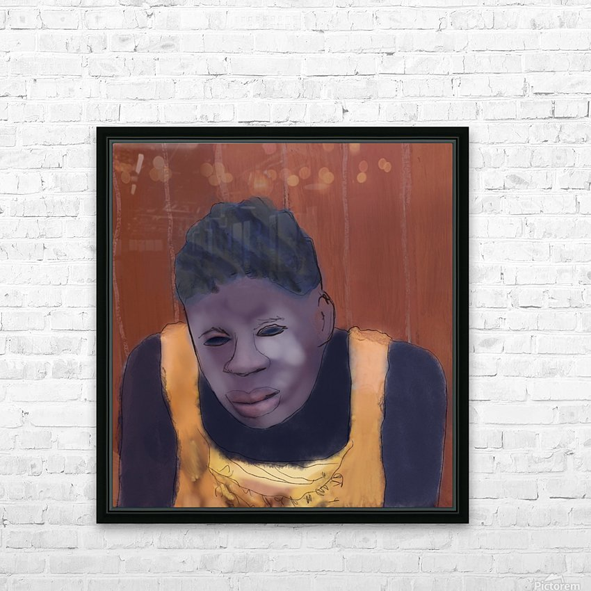 Whitney Plantation Slave Girl 4 HD Sublimation Metal print with Decorating Float Frame (BOX)