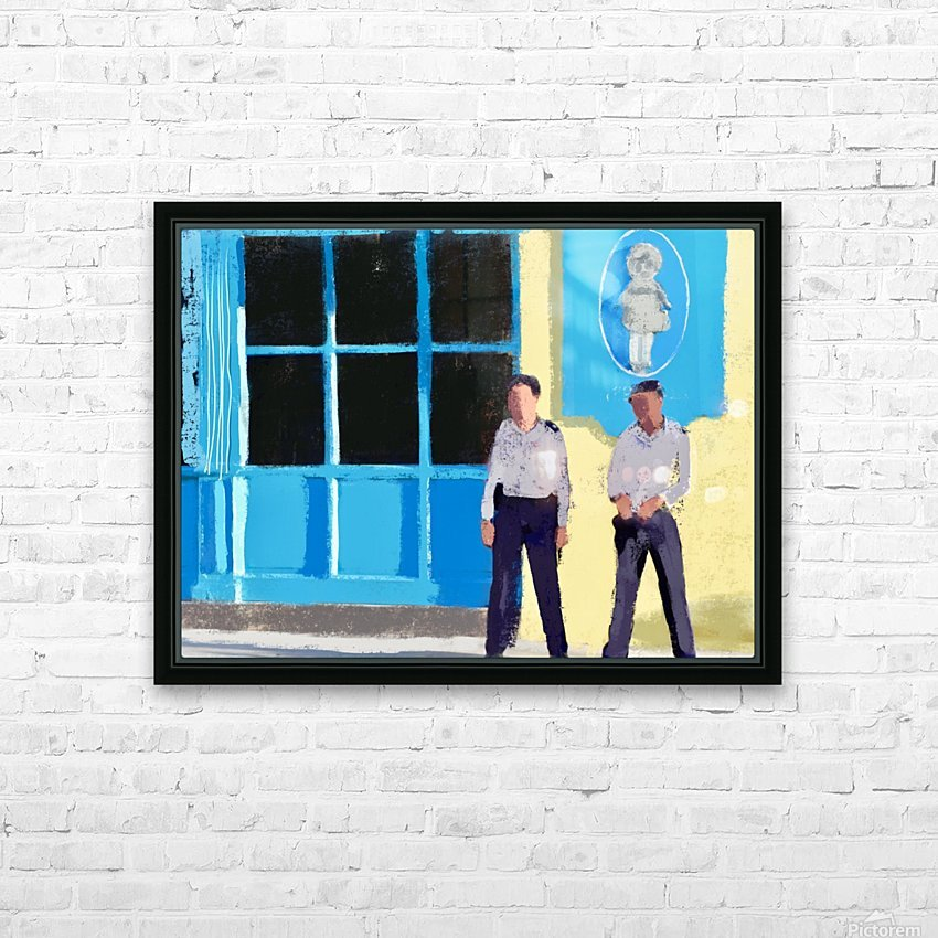 Cuba Guards HD Sublimation Metal print with Decorating Float Frame (BOX)