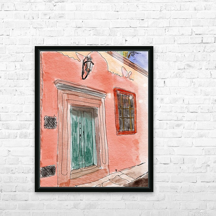 Mexico San Miguel de Allende Door 1 HD Sublimation Metal print with Decorating Float Frame (BOX)