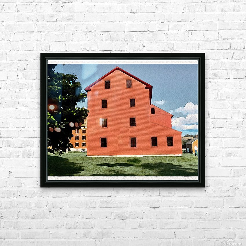 Hancock Shaker Village Laundry-Machine Shop HD Sublimation Metal print with Decorating Float Frame (BOX)