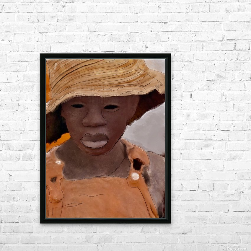 Whitney Plantation Slave Girl 1 HD Sublimation Metal print with Decorating Float Frame (BOX)