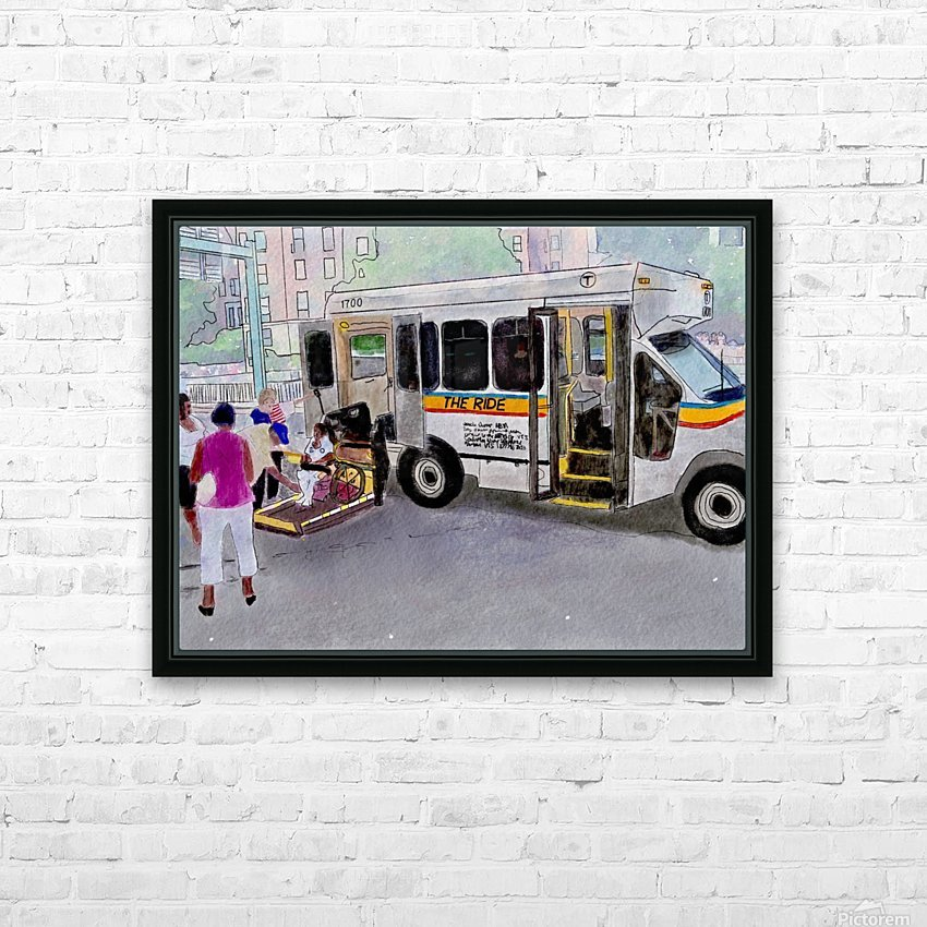 MBTA The Ride HD Sublimation Metal print with Decorating Float Frame (BOX)