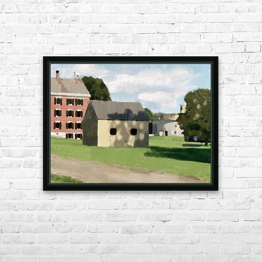 Hancock Shaker Village Brick Dwelling and Garage HD Sublimation Metal print with Decorating Float Frame (BOX)