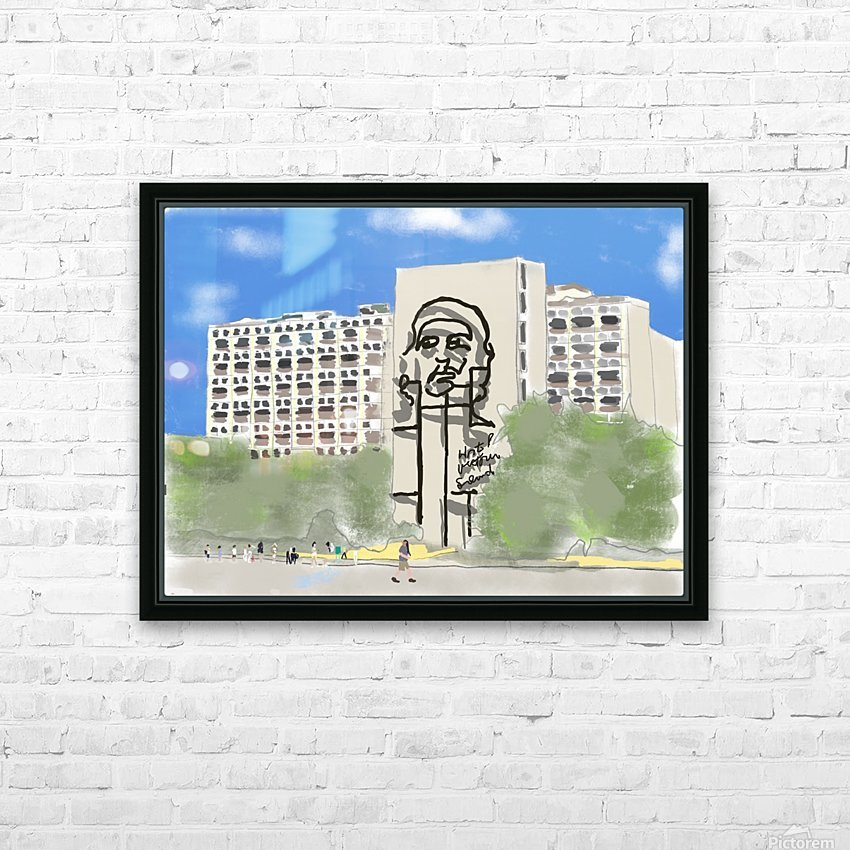 Cuba Revolution Square HD Sublimation Metal print with Decorating Float Frame (BOX)