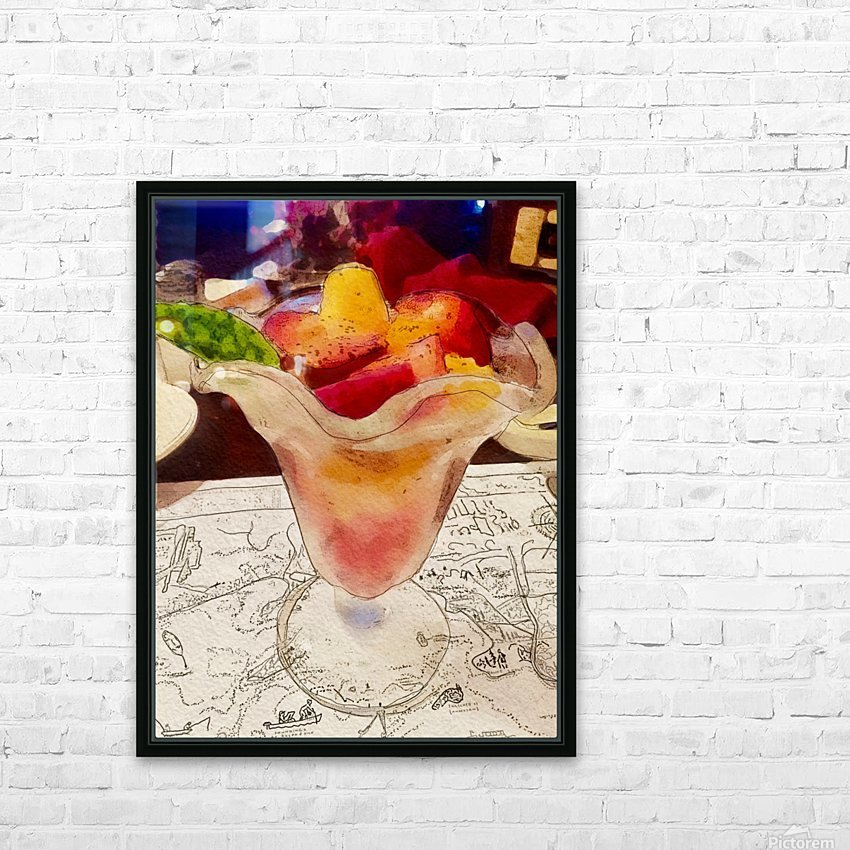 The Hedges Fruit Cup HD Sublimation Metal print with Decorating Float Frame (BOX)