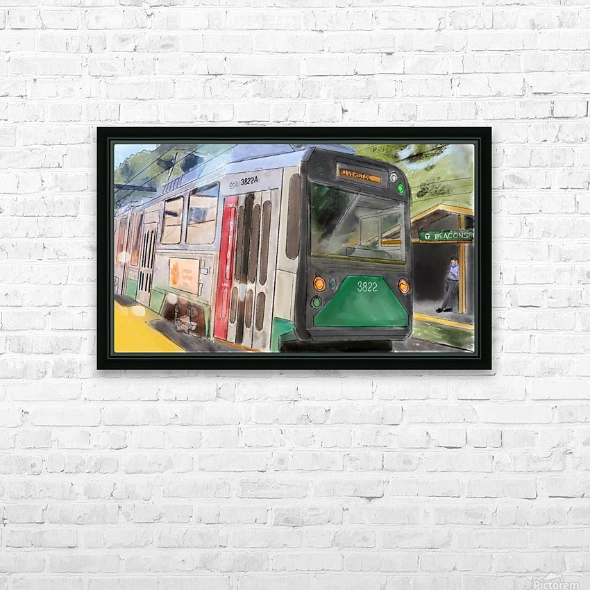 MBTA Green Line Trolly HD Sublimation Metal print with Decorating Float Frame (BOX)