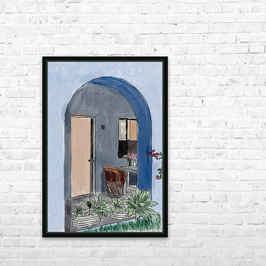 Mexico Outside our Room in Oaxaca HD Sublimation Metal print with Decorating Float Frame (BOX)