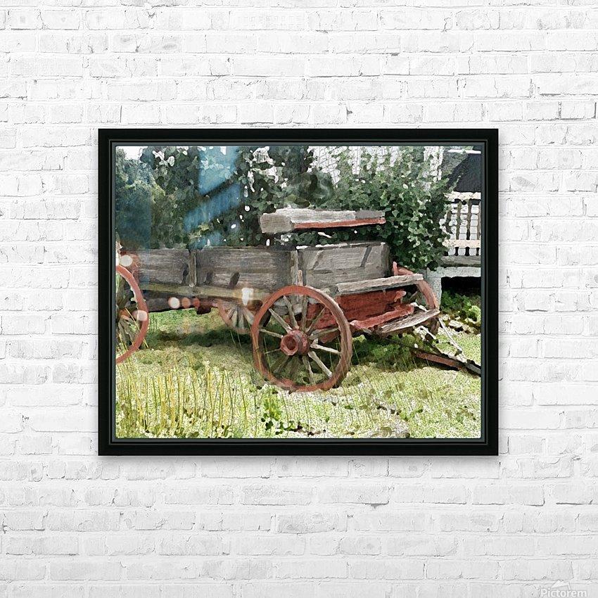 Cummington Wagon HD Sublimation Metal print with Decorating Float Frame (BOX)