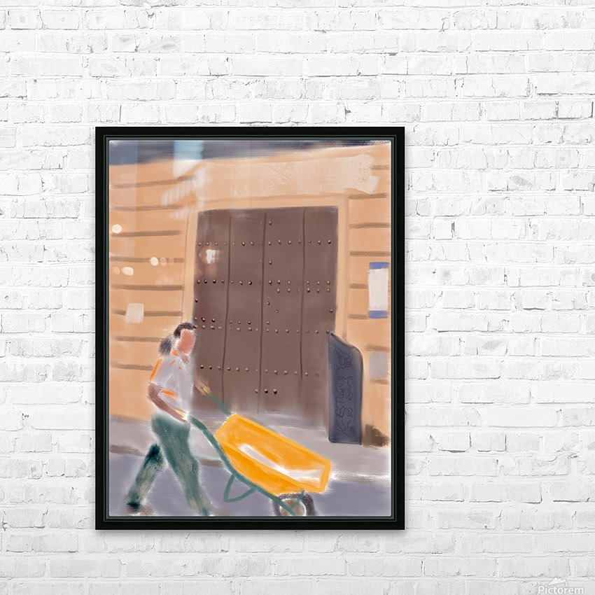 Cuba Wheelbarrow Worker HD Sublimation Metal print with Decorating Float Frame (BOX)