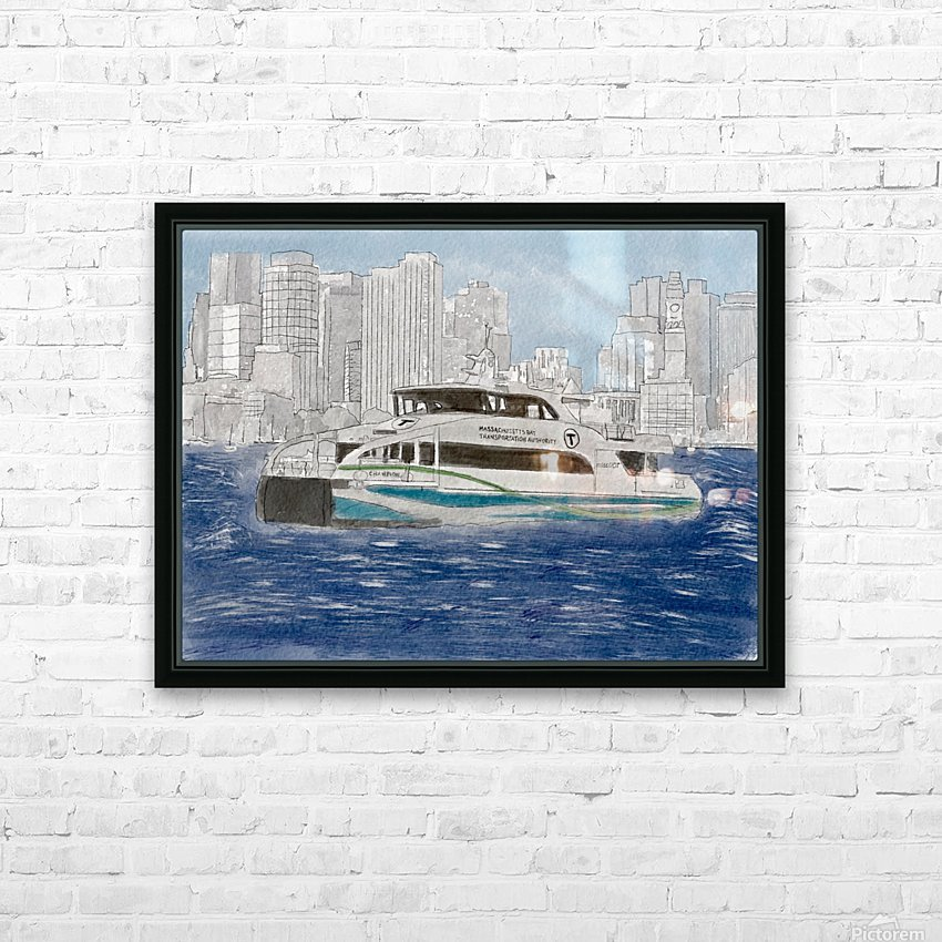 MBTA Hingham-Hull Ferry HD Sublimation Metal print with Decorating Float Frame (BOX)