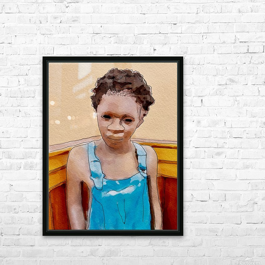 Whitney Plantation Slave Boy 1 HD Sublimation Metal print with Decorating Float Frame (BOX)