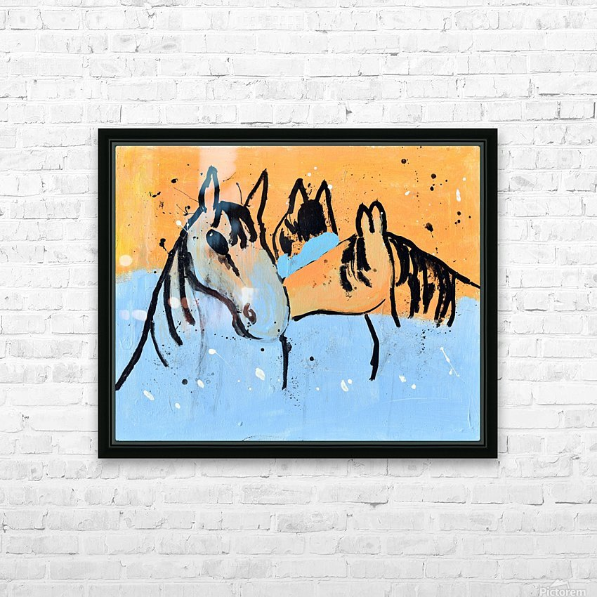 Horses.Davey K. HD Sublimation Metal print with Decorating Float Frame (BOX)