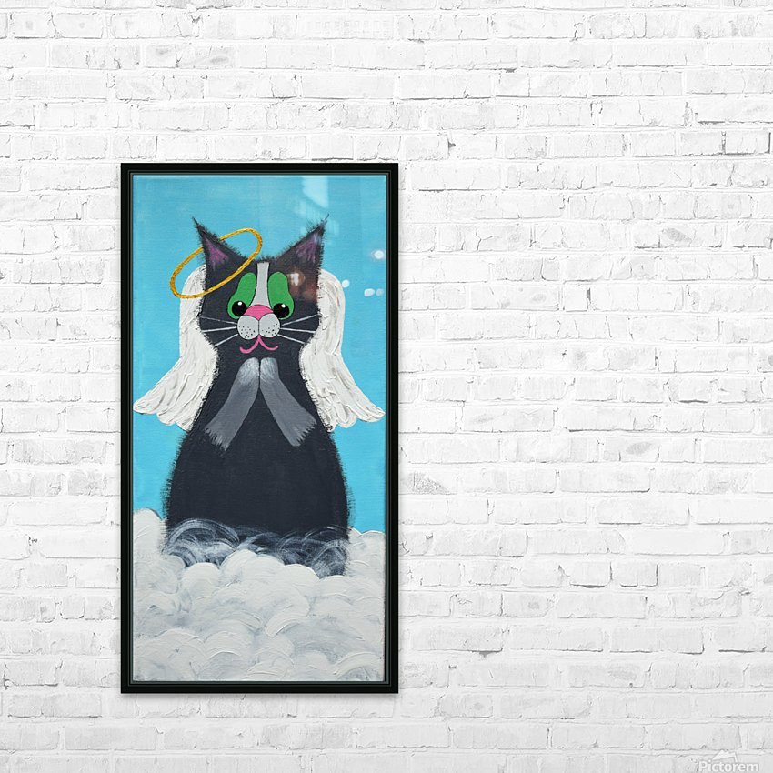 Angel Cat. Heather S. HD Sublimation Metal print with Decorating Float Frame (BOX)