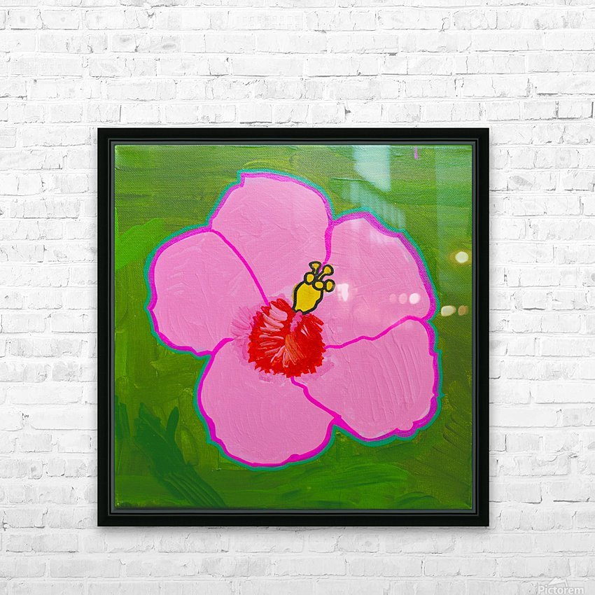 Hibiscus. Annie F HD Sublimation Metal print with Decorating Float Frame (BOX)