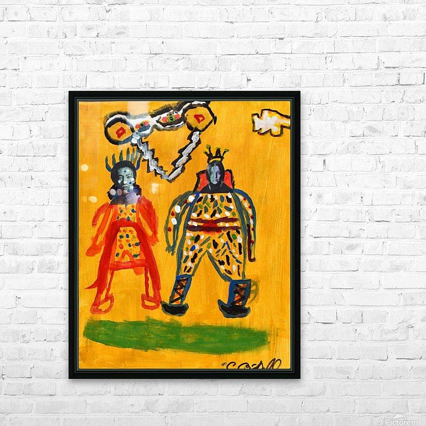 Klimt inspiration. Clyde O. HD Sublimation Metal print with Decorating Float Frame (BOX)
