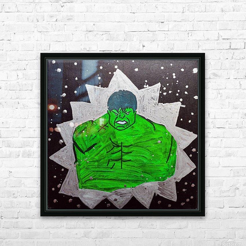 Hulk. Brandon C HD Sublimation Metal print with Decorating Float Frame (BOX)
