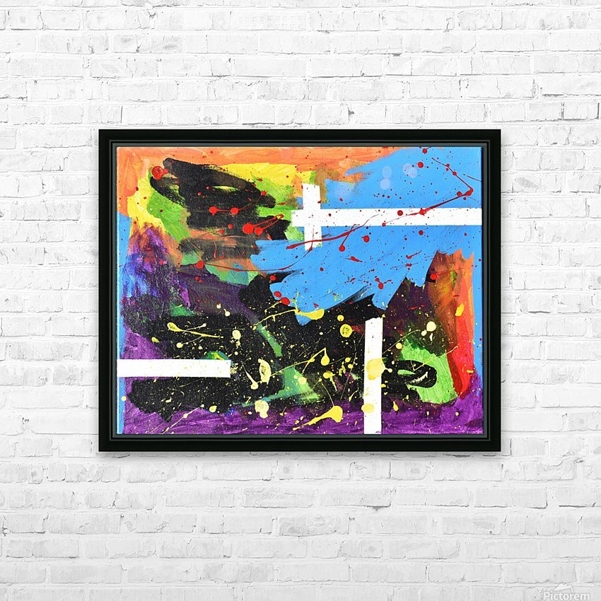 Bright Abstract. Walker W. HD Sublimation Metal print with Decorating Float Frame (BOX)
