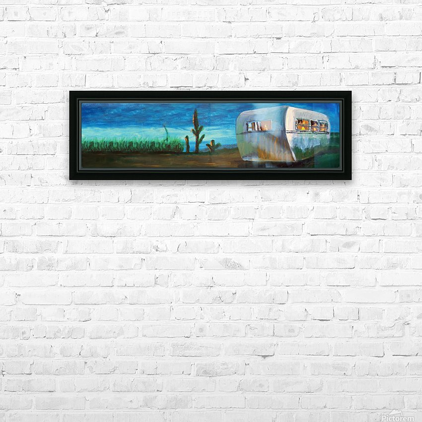 Airstream by Nancy D. HD Sublimation Metal print with Decorating Float Frame (BOX)