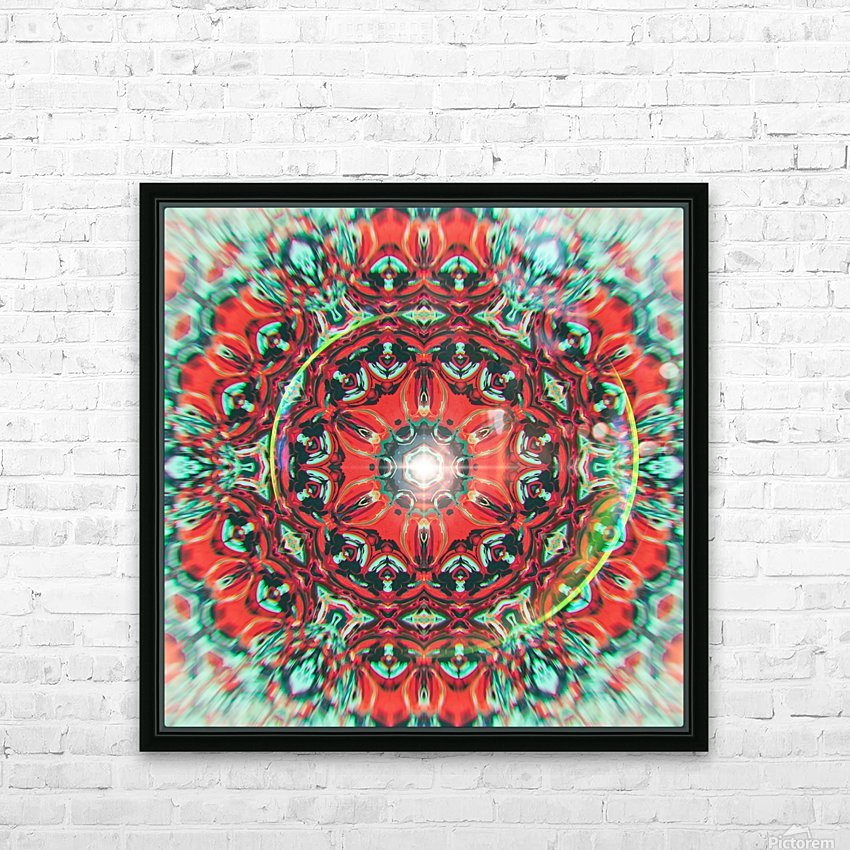 Abstract Mandala I HD Sublimation Metal print with Decorating Float Frame (BOX)