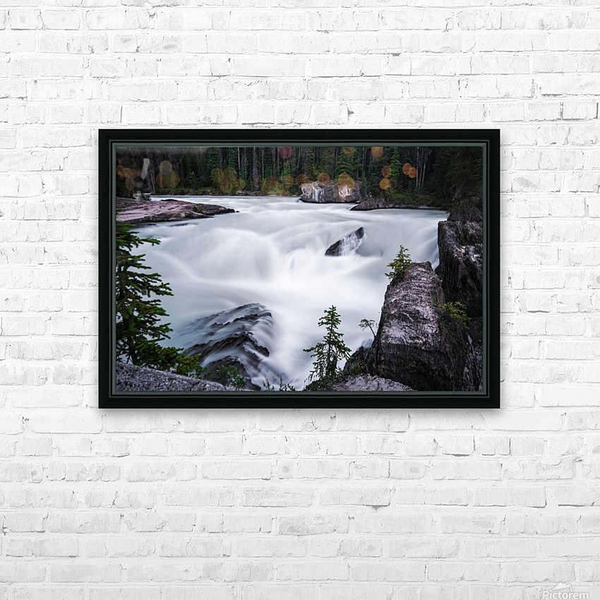 Columbia River HD Sublimation Metal print with Decorating Float Frame (BOX)