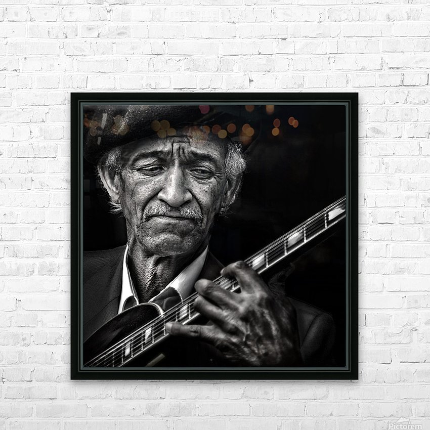 the guitarist HD Sublimation Metal print with Decorating Float Frame (BOX)