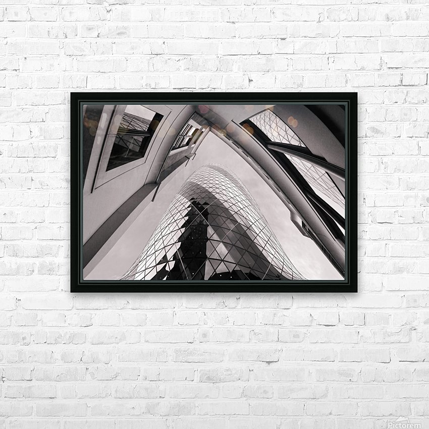 Gherkin HD Sublimation Metal print with Decorating Float Frame (BOX)