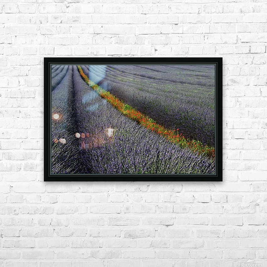 Red line HD Sublimation Metal print with Decorating Float Frame (BOX)